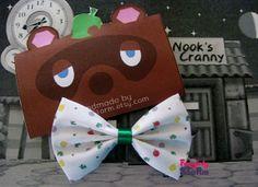 Animal Crossing Hair bow / Bow tie handmade door FangirlyStorm, $6.75