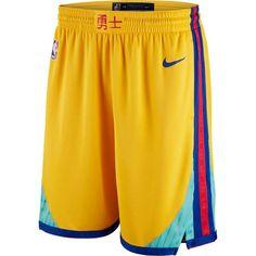 Men s Golden State Warriors Nike Gold City Edition Swingman Short Basket Nba 72ec3a8b47de