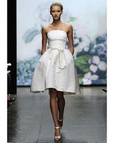 Monique short wedding dress