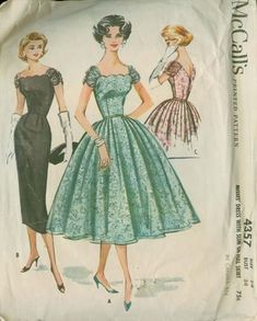 McCall's 4357 from 1957 lace dress