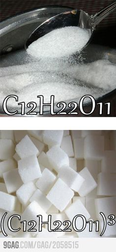 Just Another Chemistry Joke...sugar cube. I get it...I feel so accomplished