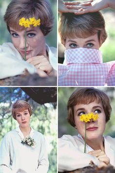 Julie Andrews as Maria in The Sound of Music. Julie Andrews, Pretty People, Beautiful People, Beautiful Women, Julia Roberts, Stana Katic, Classic Hollywood, Old Hollywood, I Look To You