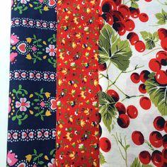 Vintage fabrics. My most recent finds. :-) Nieszvintagefabric.com