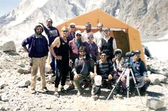 Scott Fischer (mid-left), Keith Boskoff (middle), Christine Boskoff (mid-right) in Pakistan.