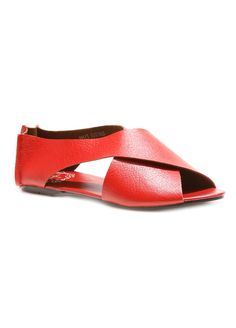 Romance in Rome Sandals Red Flats Gladiator Style Shoes by SHAIZY, $99.99