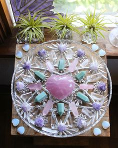 Crystal Healing Stones, Crystal Magic, Crystal Grid, Stones And Crystals, Wicca, Magick, Witchcraft, Crystal Mandala, Crystal Aesthetic
