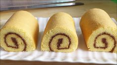 How to Make Vanilla Swiss Roll (瑞士蛋糕卷) * Sweet Recipes, Cake Recipes, Asian Recipes, Jelly Roll Cake, Swiss Roll Cakes, Chocolate Swiss Roll, Most Popular Recipes, Rolls Recipe, Pasta