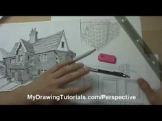 Linear Perspective Drawing Lesson 1/6 -- Introduction To Drawing Perspective In Art