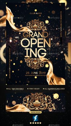 Buy Grand Opening Party Flyer by sparkg on GraphicRiver. Grand Opening Party Flyer It's unique flyers, poster design for your business Advertisement purpose. Grand Opening Invitations, Grand Opening Party, Grand Opening Banner, Menu Design, Banner Design, Flyer Design, Award Poster, Gig Poster, Creative Flyers