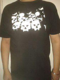 Black Gothic Short/Long Sleeved T shirt Top Rack of Skulls design Skull Design, Skulls, Gothic, Best Deals, Long Sleeve, Mens Tops, T Shirt, Stuff To Buy, Shopping