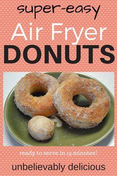 Air Fryer Donuts -- Cinnamon-sugar, so easy! EVERYDAY TEACHER STYLE - >> style, live, teach, repeat <<
