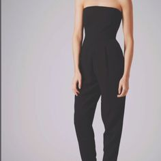 51feffdd7f56 BRAND NEW WITH TAGS - tailored Topshop bandeau jumpsuit in black.