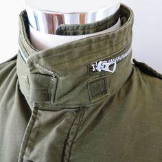Vintage Original US Army M 65 M65 Field Coat Jacket OG 107 Medium 1967  Scovill  0f8a8e7577