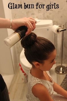 Get ready for the big day! Halloween Hair for Girls. Tips for creating the perfect chic bun. Gym Hairstyles, Little Girl Hairstyles, Everyday Hairstyles, Hairstyles For School, Halloween Hairstyles, Wedding Hairstyles, Gymnastics Hair, Kids Gymnastics, Little Girl Costumes