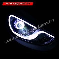 Custom Modified headlights for Hyundai Verna Porsche Style. Available at Autoglam. We Ships to all over India. Custom Headlights, Projector Headlights, Car Headlights, Hidden Projector, Car Accessories, Porsche, Stuff To Buy, Crate, Delivery