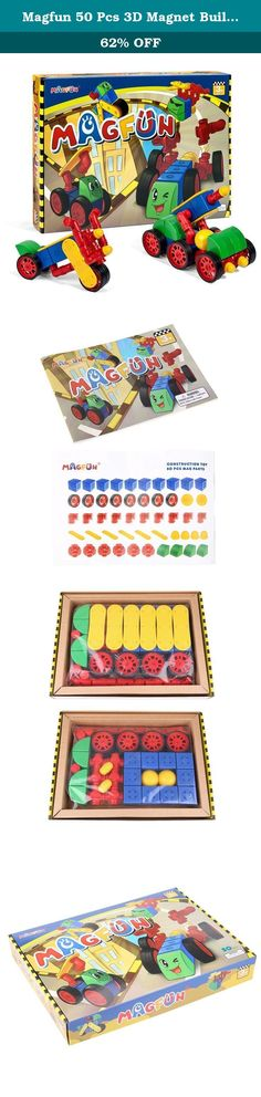 Magfun 50 Pcs 3D Magnet Building Many Shapes Helps Build Intelligence. Specifications: Product Size (Approx. L * W * H): 16.4 * 11.8 * 2.4 inches Product Weight: 3.38 pounds Age Range: > 3 years old Material: ABS material and magnet Package included: 1 * A box of MAGFUN magnetic building blocks Attention! The packages' Plastic bags can be dangerous. To avoid danger of suffocation, keep this bag away from babies and children. Descriptions: Magfun® - 50 Piece Value Set! Magfun 50-piece set...