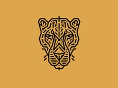 Leopard designed by brandosaur. the global community for designers and creative professionals. Logo Branding, Branding Design, Logo Design, Cheetah Logo, Animal Graphic, Animal Logo, Olympic Logo, Mark Tattoo, House Illustration