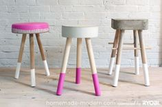 DIY Concrete Stool