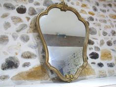 French Vintage Wall Mirror // Large French by VintageRetroOddities