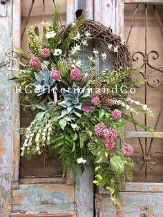 Spring Wreath Summer Wreath Grapevine Wreath Door Decor