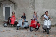 Girl Vespa gang