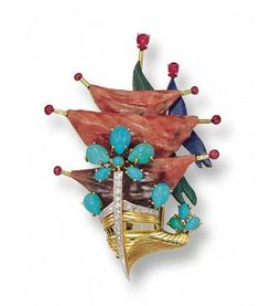 18K Gold and Hardstone Brooch, Chaumet - Sotheby's