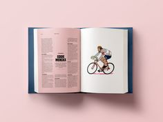 Test spread of an article about cycling.