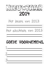 Met behulp van dit werkblad evalueren de kinderen uit jouw klas het afgelopen jaar door aan te geven wat hun beste en hun slechtste ervaring van 2013 was. Daarna stellen ze zichzelf doelen voor het komende jaar in de vorm van drie goede voornemens.