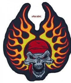 Lethal Threat embroidered patches are the most detailed and sought after patches in the Biker market place. Each patch has a heat seal backing for iron on appli Bandana, Patches, Skull, Medium, Photos, Art, Bandanas, Art Background, Pictures