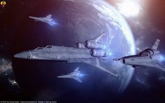 Escorting the Bomber by Euderion.deviantart.com on @DeviantArt