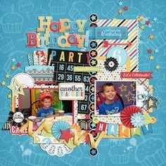GingerScraps :: Templates :: Something Fun Templates by Miss Fish Birthday Wishes Boy, Birthday Fun, Birthday Celebration, Birthday Scrapbook Layouts, Scrapbook Page Layouts, Scrapbook Templates, Scrapbook Cards, Fish Template, Digital Scrapbooking