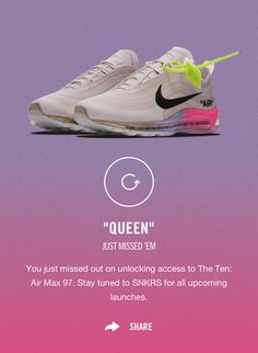 908af4af75 The Off-White x Nike Air Max 97 Queen Released Just Before Serena Williams  Took The Court