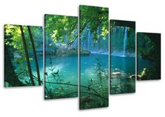 """Picture 6408 on canvas length 40"""" height 20"""" falls trees sea pictures ready to hang framed , brand original Visario! Visario http://www.amazon.com/dp/B00LPBDCNU/ref=cm_sw_r_pi_dp_DH20ub0QR9XGE"""