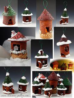 Fimo Christmas houses