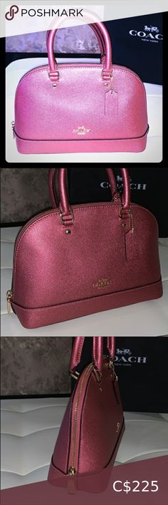 COACH Glitter Pink Leather Satchel Crossbody Bag Pink coach bag authentic comes with paper bag Coach Bags Crossbody Bags Coach Leather Bag, Leather Crossbody Bag, Crossbody Bags, Coach Purses, Coach Bags, Purses And Bags, Jimmy Choo Sunglasses, Purple Handbags, Hobo Handbags