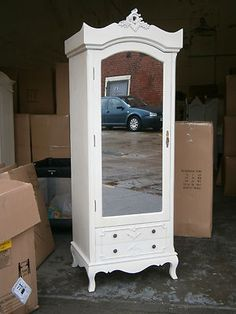 Best ♥French Shabby Chic Double 2 Door Wardrobe Armoire White 400 x 300