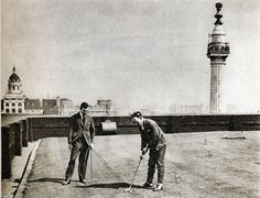 London in the 1920's-golf on Adelaide House