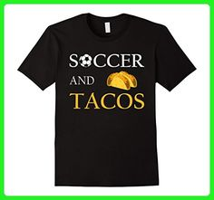 Mens Soccer And Tacos - Funny Mom Dad Sports Gift T-Shirt Large Black - Sports shirts (*Amazon Partner-Link)