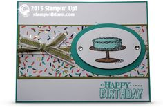 Stampin Up Sale a bration Big Day Birthday Bash Card