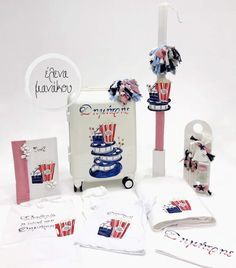 Pop Corn, Place Cards, Container, Place Card Holders