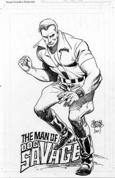 Doc Savage Comic Art