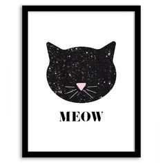 Free Printable Sequin Cat Wall Art from Chicfetti.com