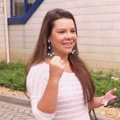 A atriz Fernanda Souza usou brinco exclusivo by Pri Schiavinato para gravar uma matéria no Caldeirão do Huck.   www.priacessorios.com.br