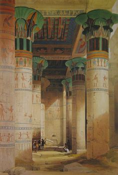 Temple of Isis on the Island of Philae/Egypt  Date	1838	  David Roberts (1796–1864)