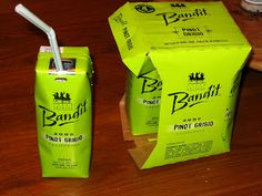 WINE JUICE BOXES! Three Theives Bandit Wine in single serve. Under $10.00 and perfect to throw in a picnic basket ( not for wine snobs, it is after all.. wine in a box )
