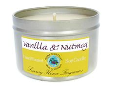 Vanilla Candle  Fall candles   Made in Michigan  by AromaScentsLLC