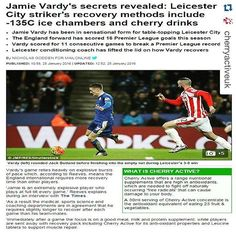 Repost @cherryactiveuk with @repostapp.  The Mail Online revealed @jamievardy9_ post match recovery secrets! Like a lot of elite #athletes he takes #cherryactive for #natural #sportsrecovery  #antioxidants #montmorencycherries #recovery #football #leicestercityfc #fitness #fitfam #instafit #AFL #NRL #Soccer #furtherfasterstronger #nutrition #training #gains #endurance #fitspo #fitspiration #performance #health #juice #juicing #smoothie #eatarainbow #raw