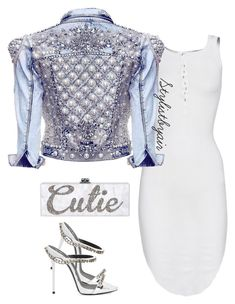 """Untitled #6815"" by stylistbyair ❤ liked on Polyvore featuring ISABEL BENENATO and Giuseppe Zanotti"