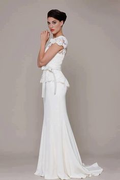 I am obsessed with this dress perfect for my shape hides the only peplum wedding dress junglespirit Gallery