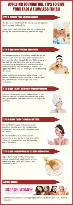 Applying Foundation: Tips To Give Your Face A Flawless Finish Infographic